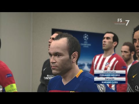 FC Barcelona vs Atlético de Madrid - PES 2016 UEFA Champions League Cuartos de Final