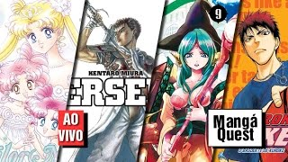 Mangá Quest - Sailor Moon 12, Berserk 4, Magi 9, Kuroko no Basket 9