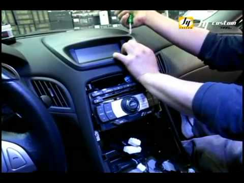 Genesis Coupe Gps Intallation 3 Flv Youtube