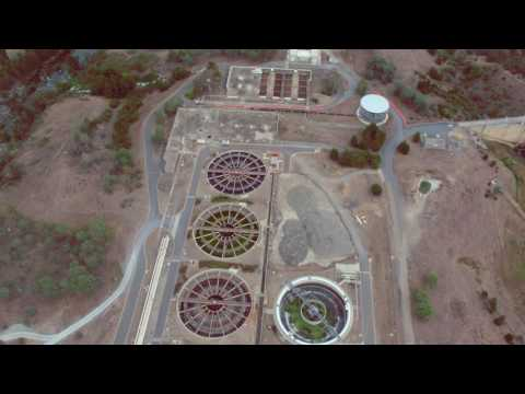 Lower Molonglo Water Quality Control Centre (LMWQCC) drone footage 2017
