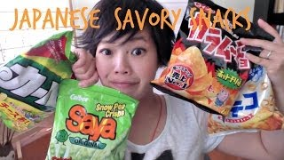 Japanese Savory Snacks   Whatcha Eating? #138