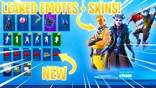*NEW* LEAKED FORTNITE SKINS & EMOTES..!! (Ice King's Queen, Flux, Malcore, Slick...)