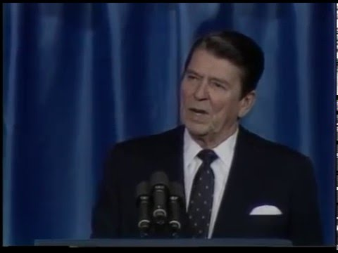President Ronald Reagan at the National Association of Evangelicals