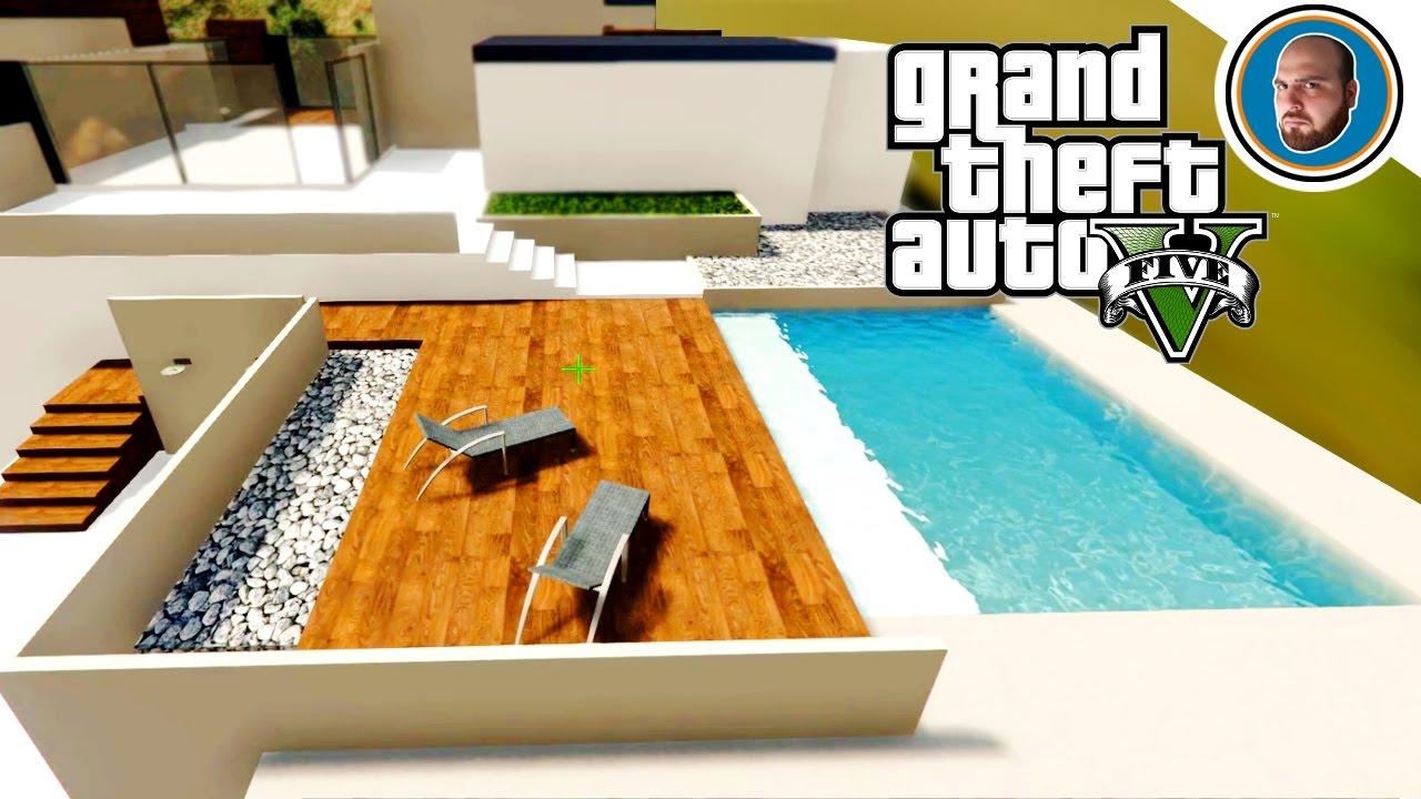 Gta 5 mod costruire una villa moderna 6 piscina pi for Costruire una villa