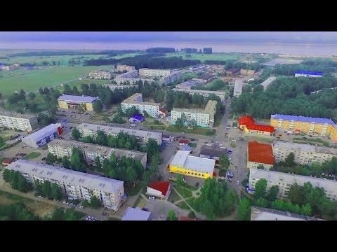 Лесосибирск. 5-ый и 9-ый микрорайоны. Видеосъемка с квадрокоптера