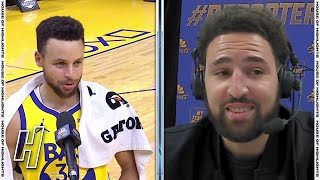 Klay Thompson Funny Interview With Stephen Curry - Pistons vs Warriors | January 30, 2021