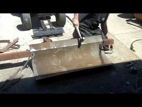 how to make a homemade snow plow for atv