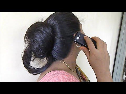 Bun Drop By Rubbing Big Bun On Wall |1 Min Easy Messy Bun Hairstyle|Quick & Simple Bun for Long Hair