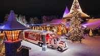 Coca-Cola Christmas Truck Crossed the Arctic Circle in Rovaniemi b4ff49b1837