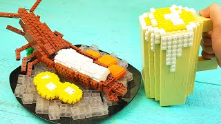 Lego Lobster Sashimi - Lego In Real Life | Stop Motion Cooking & ASMR