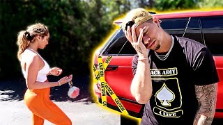 CATHERINE CRASHED HER BRAND NEW CAR!!! thumbnail