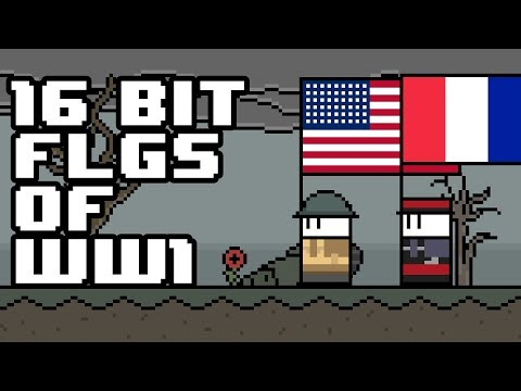 Every Flag Used During WW1 (Pixel Art)