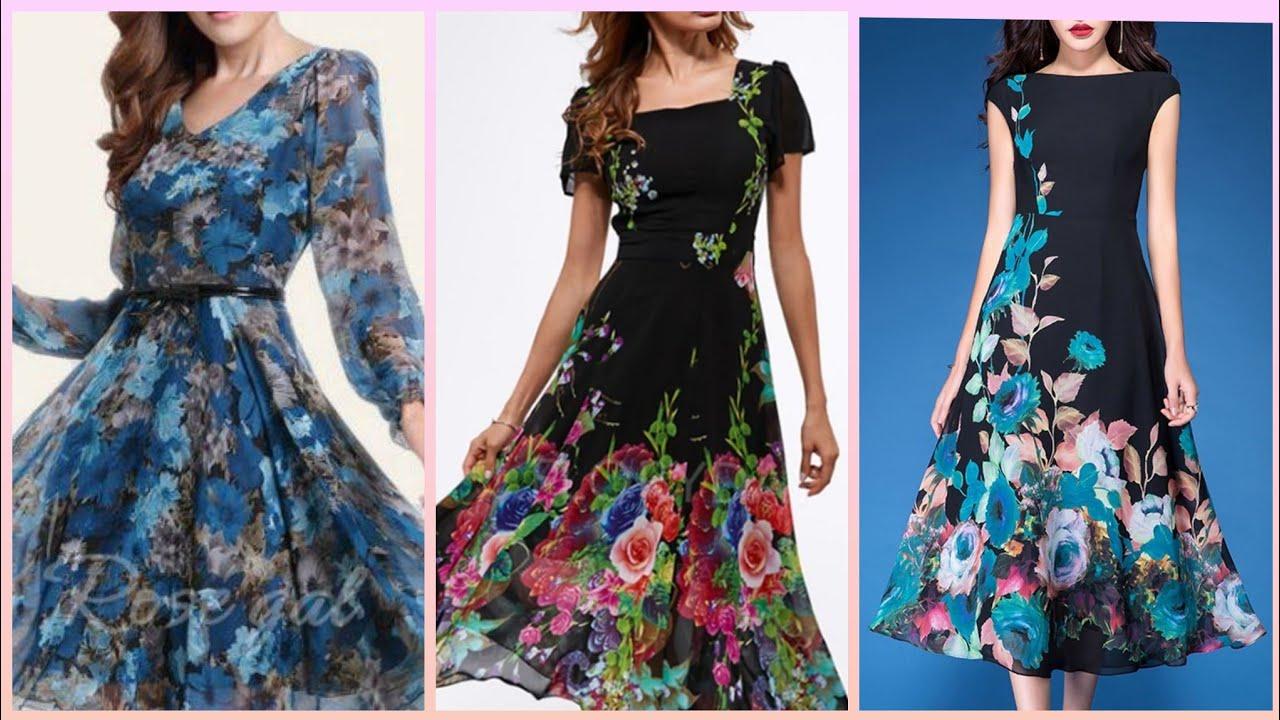 Beautiful Fl Chiffon Maxi Dresses