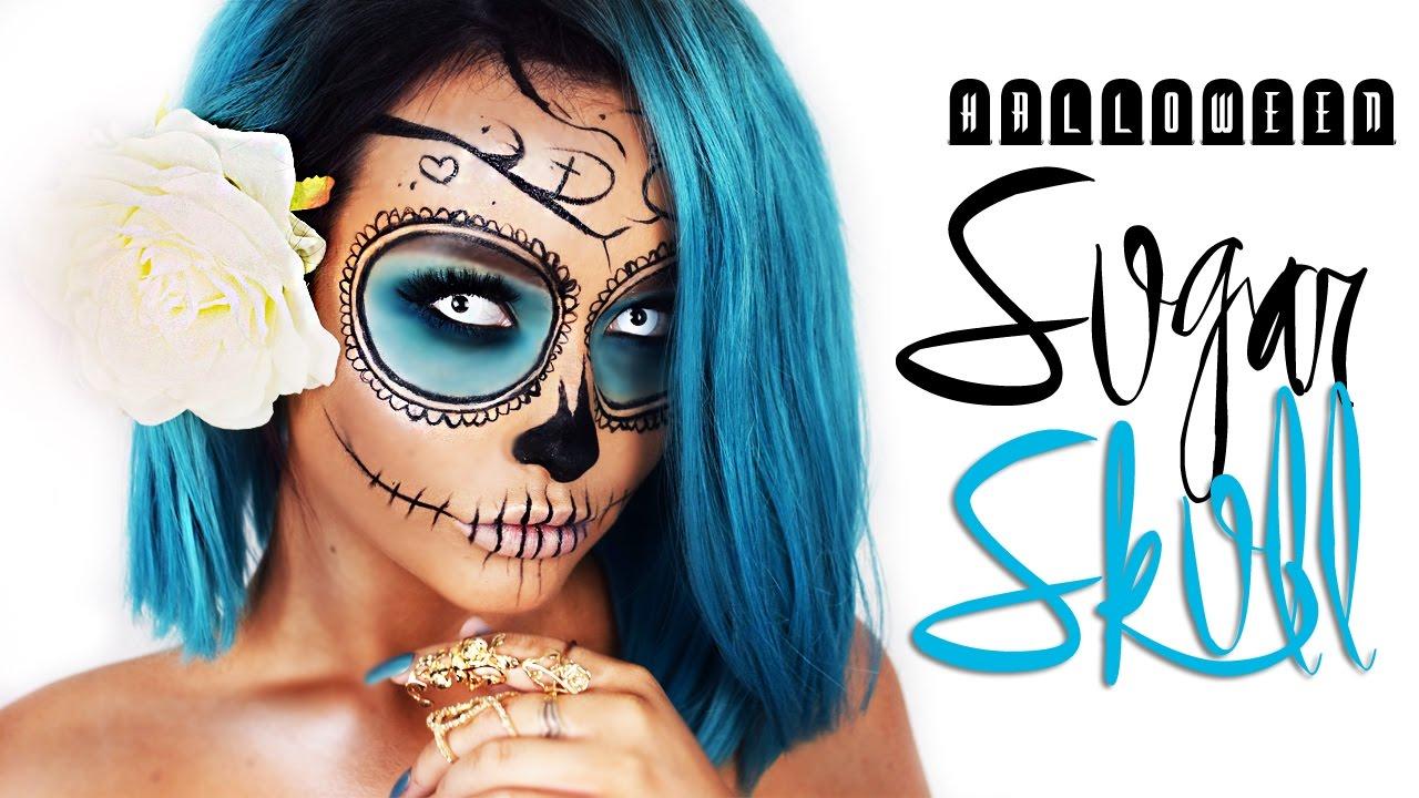 Day of the Dead Halloween Sugar Skull - Using NO Halloween makeup ...