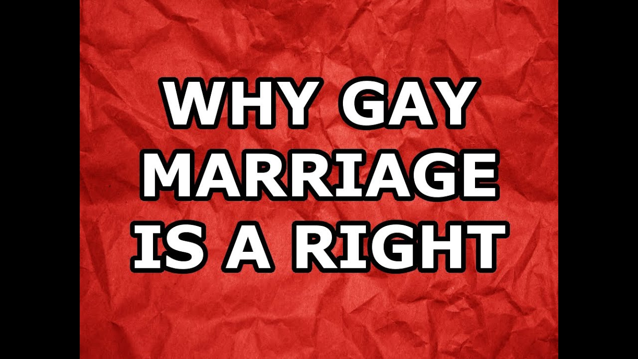 from Cole why is gay marriage right