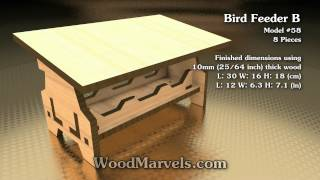 An easy to build modern bird feeder! We sell laser-cut kits, EPS, Adobe Illustrator, DXF, PartWorks files and measurement free ...