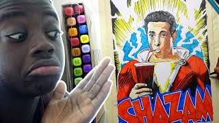 CAPTAIN MARVEL OR SHAZAM! (DC COMICS) DRAWING WITH MARKERS