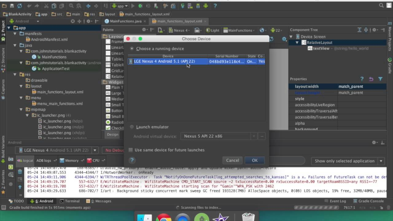 Android Studio How to run your app on emulator and phone | tablet