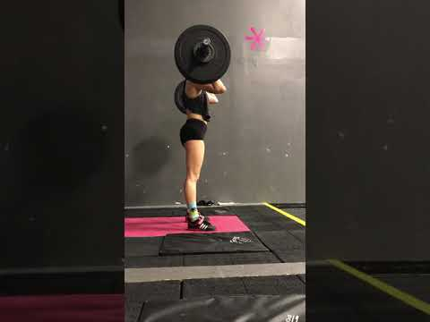 Power clean and jerk 75%x2