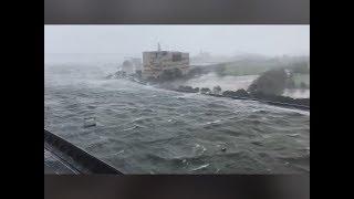 -Typhoon Jebi HIT Osaka Western Japan- 9/4/2018【台風第21号】ツイッター動画まとめ 【被害甚大】 thumbnail
