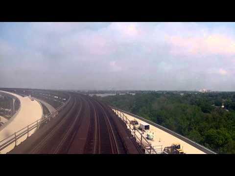 Crossing the Huey P. Long Bridge on Amtrak