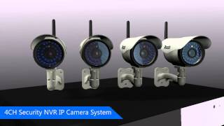 zmodo 4 ch security nvr ip network camera system