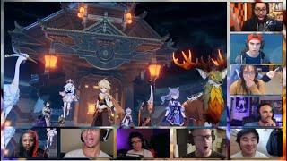 Liyue Archon Quest Finale Cutscene - Reaction Mashup (Genshin Impact)