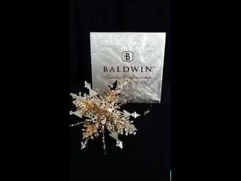 Collectenea Collectibles:  Baldwin Brass Celebration Snowflake Christmas Ornament