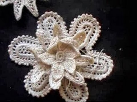 Irish Crochet Lace A Small Flower Youtube