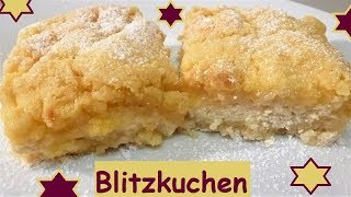 Blitzkuchen( schneller Kuchen): Kuchen ohne Teigzubereitung und super saftig!