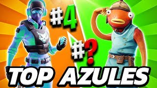 TOP 10 THE BEST FORTNITE BLUE SKINS 💙 THE BEST BLUE SKIN OF 1200 PAVOS IN FORTNITE