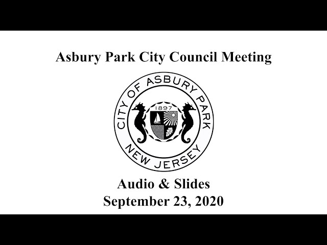 Asbury Park City Council Meeting - September 23, 2020