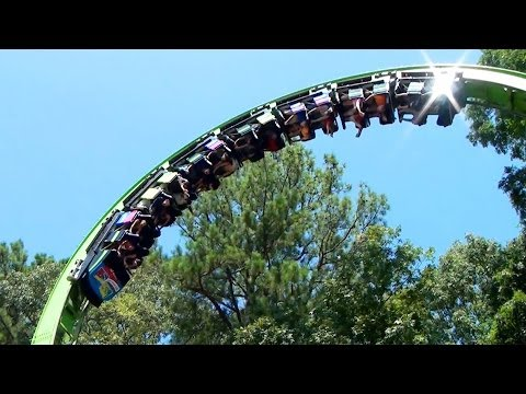 Mindbender Roller Coaster POV Six Flags Over Georgia