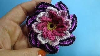 Спиральный цветок Spiral crochet flower 84