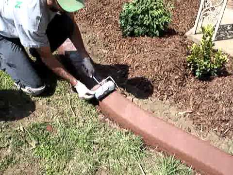 Adding Stamped Or Rolled Design To Concrete Curbing Youtube