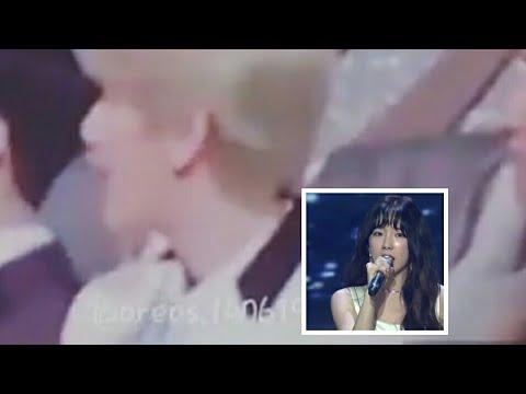 """Baekhyun Reaction Taeyeon """"Fine"""" In Golden Disc 2018"""