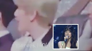"Baekhyun reaction Taeyeon ""Fine"" In Golden Disc 2018"