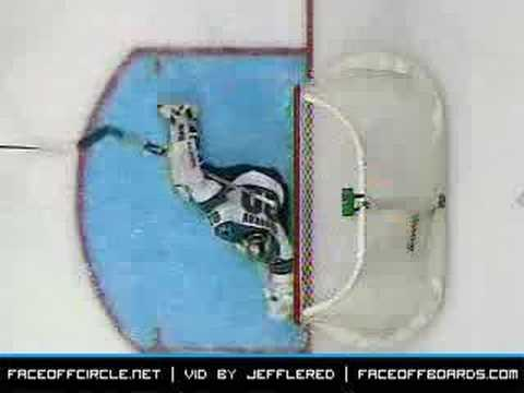 Evgeni Nabokov with the Save of the Year, Possibly Decade?