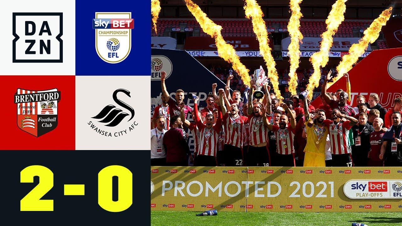 2:0 im Playoff-Finale! Brentford steigt in PL auf: Brentford - Swansea 2:0 | EFL Championship | DAZN