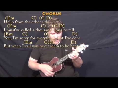 Ukulele ukulele chords hello : Hello (Adele) Ukulele Cover Lesson in Em with Chords/Lyrics - YouTube