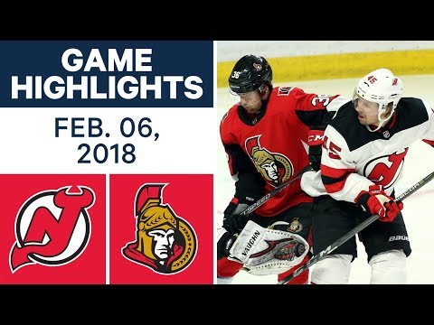 NHL Game Highlights | Devils vs. Senators — Feb. 06, 2018