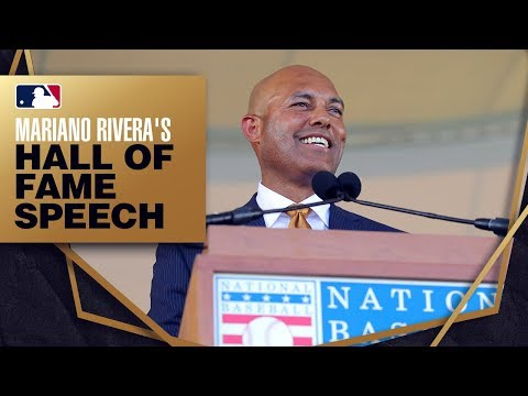 Mariano Rivera is inducted into the Hall of Fame