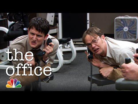 Dwight vs. Gabe: Jim's Workout Prank - The Office