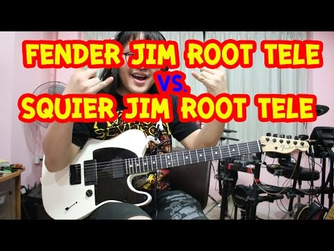 แป๊ะ Syndrome - Test Fender Jim Root Tele  Vs. Squier Jim Root Tele