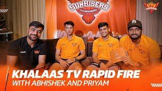 Rapid 🔥 Abhishek and Priyam | IPL 2021 | SRH