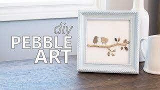 DIY Bird Pebble Art