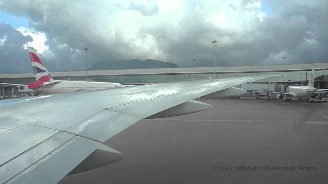 Cathay Pacific 77G CX826 Hong Kong (HKG) - Toronto (YYZ) Pushback - YouTube