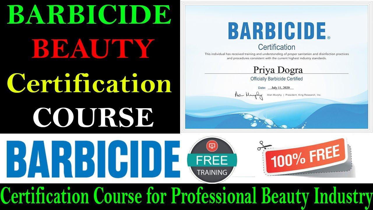 barbicide certificate certification covid course professional