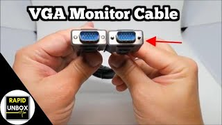 VGA Monitor Cable 6 ft by ONN - Laptops and Projectors 1080p