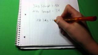 Mathe: einfachen Dreisatz berechnen - Mathe Dreisatz Formel einfach berechnen Anleitung